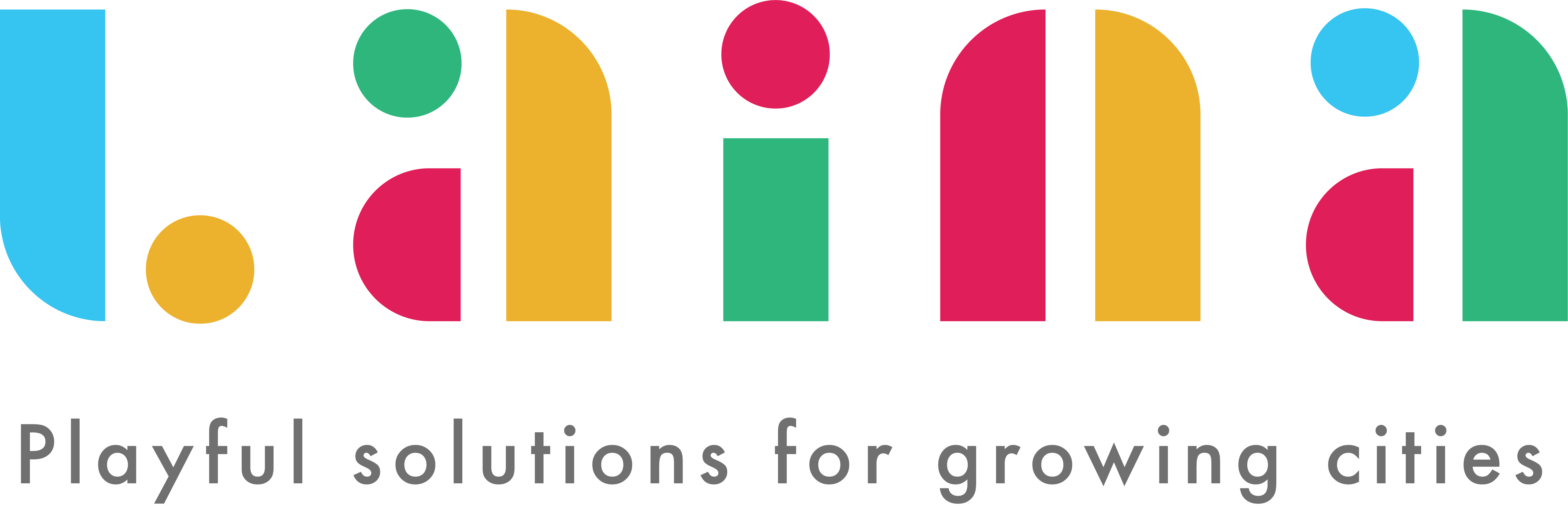 Laina logo playful solution for growing cities